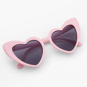 Heart Cat Eye Sunglasses - Blush Pink,