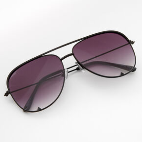 Faded Aviator Sunglasses - Black,