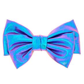 Metallic Mermaid Hair Bow Clip - Lilac,