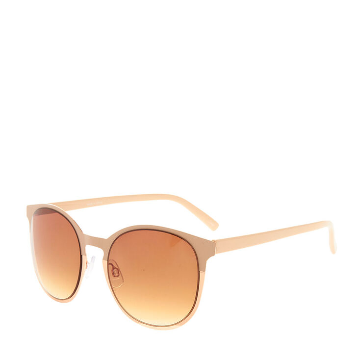 Nude & Rose Gold Sunglasses,