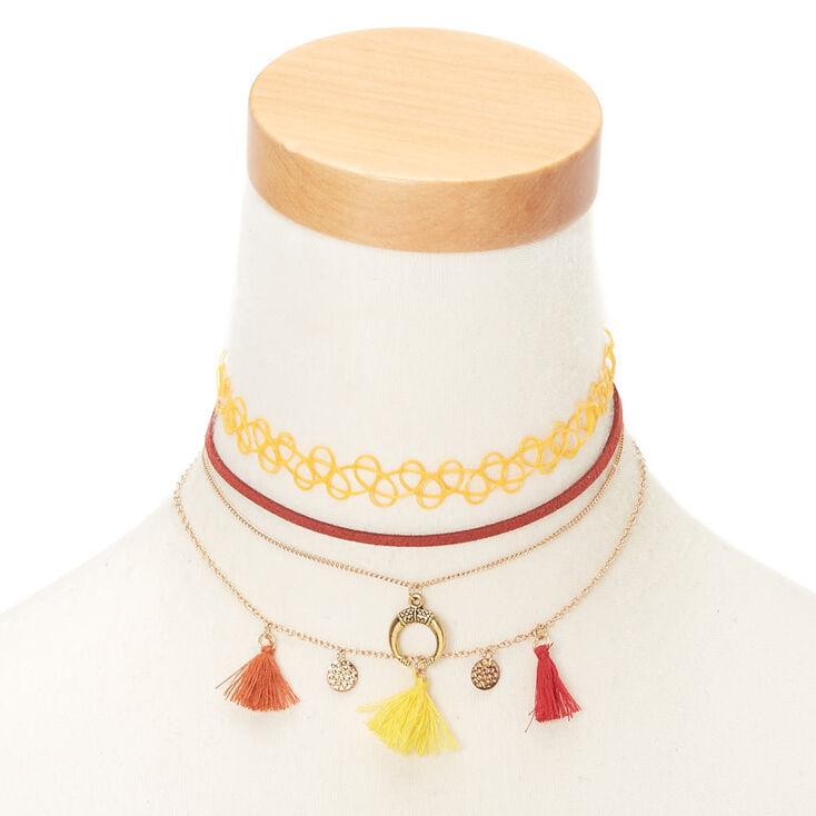 Southwest Choker Necklaces - 4 Pack,