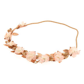 Mini Rose Gold Flower Headwrap,