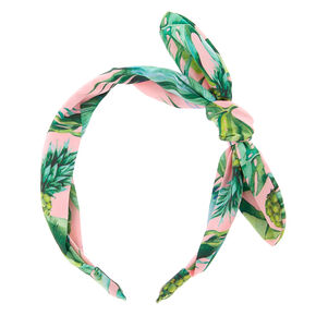 Tropical Pineapple Headband - Pale Pink,