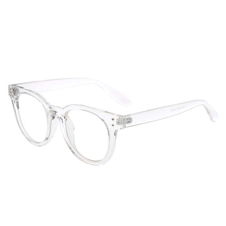 Round Clear Lens Frames - Clear,