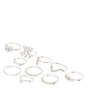 10 Pack Romantic Rings,