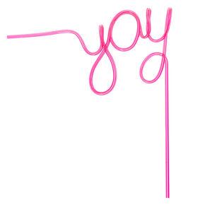 YAY Script Straw - Pink,