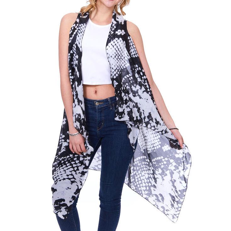 Snake Print Kimono Vest,