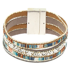 Silver Desert Layered Wrap Bracelet,