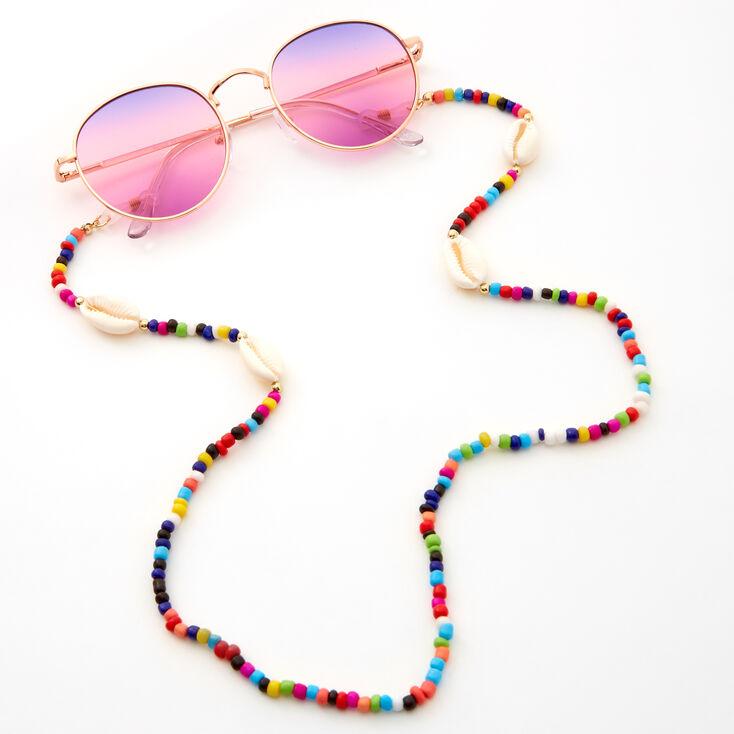 Beaded Cowrie Shell Sunglasses Chain,