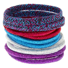 Glitter Anodized Hair Ties - 10 Pack,