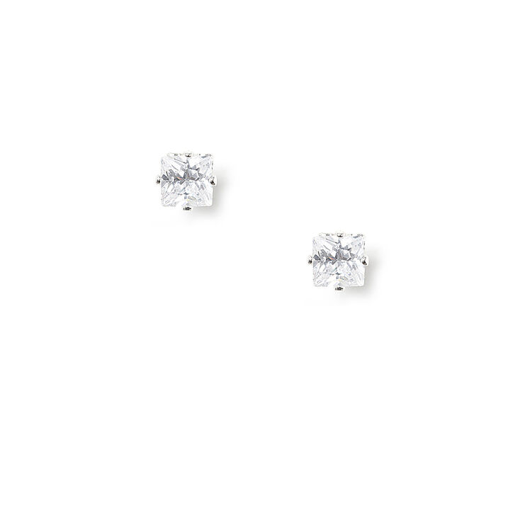 3MM Cubic Zirconia Magnetic Stud Earrings,