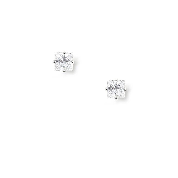 3MM Cubic Zirconia Magnetic Stud Earrings,