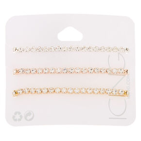 Mixed Metal Rhinestone Adjustable Bracelets - 3 Pack,