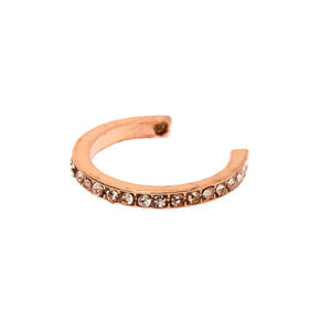 Rose Gold Crystal Toe Ring,