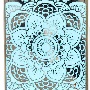 Blue Reflective Mirror Mandala Phone Case,