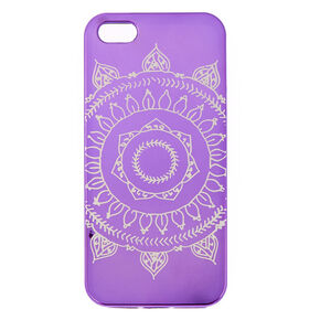 Metallic Purple Mandala Case,