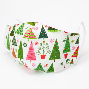 Cotton Holiday Trees Face Masks - Adult,
