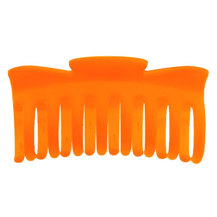 Matte Hair Claw - Neon Orange,