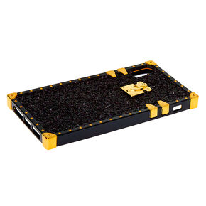 Black Glitter Square Phone Case - Fits iPhone XS Max,