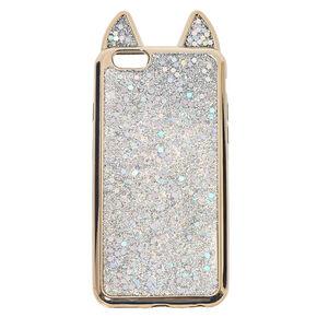 Metallic Silver Cat Phone Case,