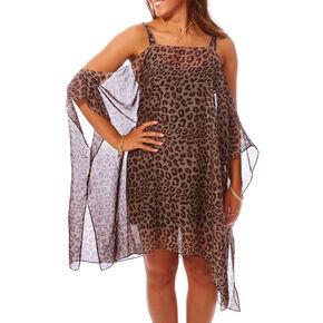 Cold Shoulder Leopard Shirt,