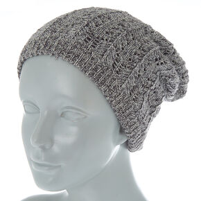 d32aeef4de8 Double Layer Knit Beanie - Gray