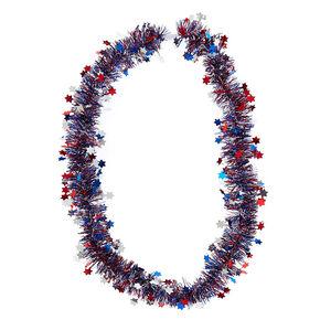 Metallic Stars Tinsel Necklace,