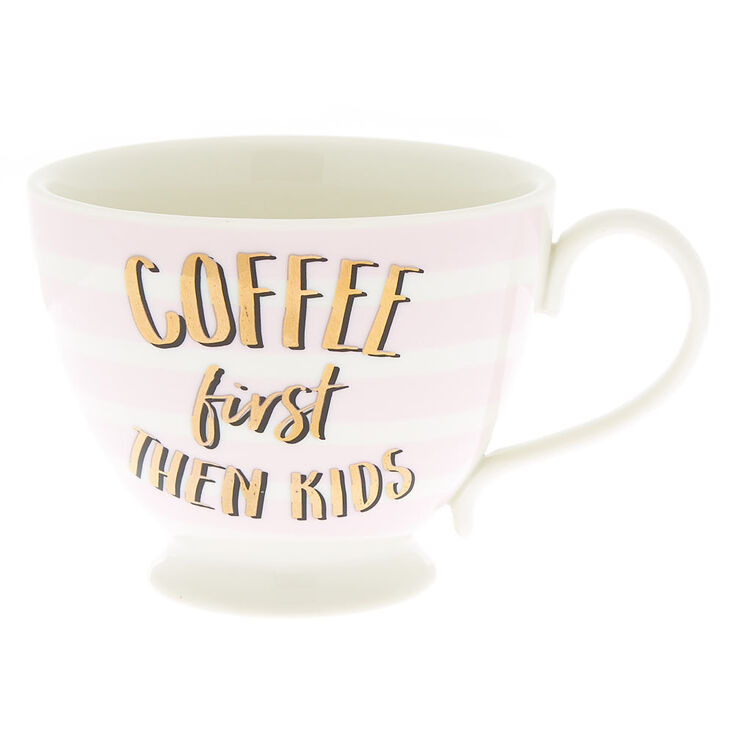 Coffee First Then Kids Soup Mug - White,
