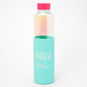 Aquaholic Glass Water Bottle,