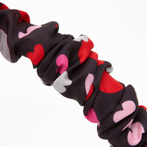 Valentine's Day Heart Print Ruched Headband,