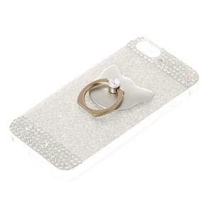 Cat Glam Finger Ring Phone Case - Fits iPhone 6/7/8 Plus,