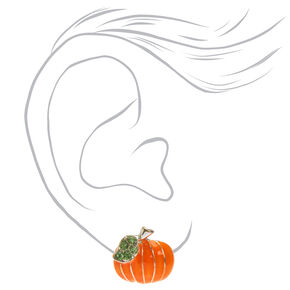 Pumpkin Stud Earrings - Orange,