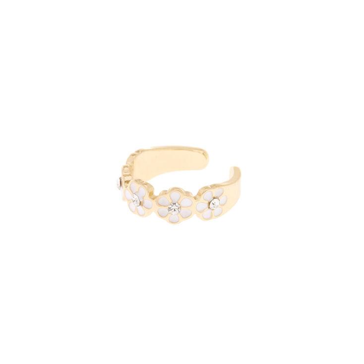 Gold Daisy Toe Ring,