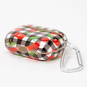 Gingham Cherry Earbud Case Cover - Compatible with Apple AirPods Pro®,
