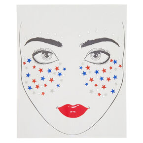 Patriotic Star Face Stickers,