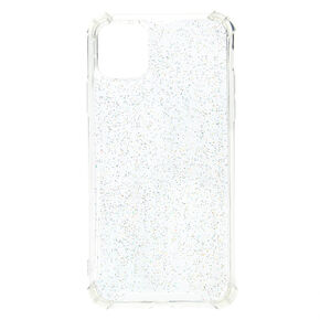 Clear Glitter Protective Phone Case - Fits iPhone 11 Pro Max,