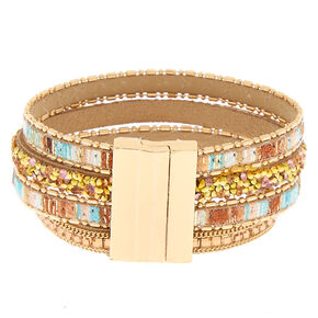 Gold Desert Layered Wrap Bracelet,