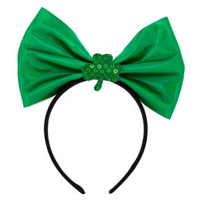 Shamrock Bow Headband - Green,
