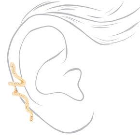Gold Snake Ear Cuff,