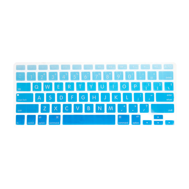 Blue Ombre Silicone MacBook Keyboard Cover,