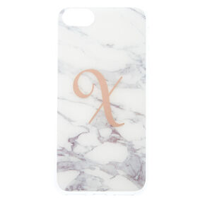 "Marbled ""X"" Initial Phone Case,"