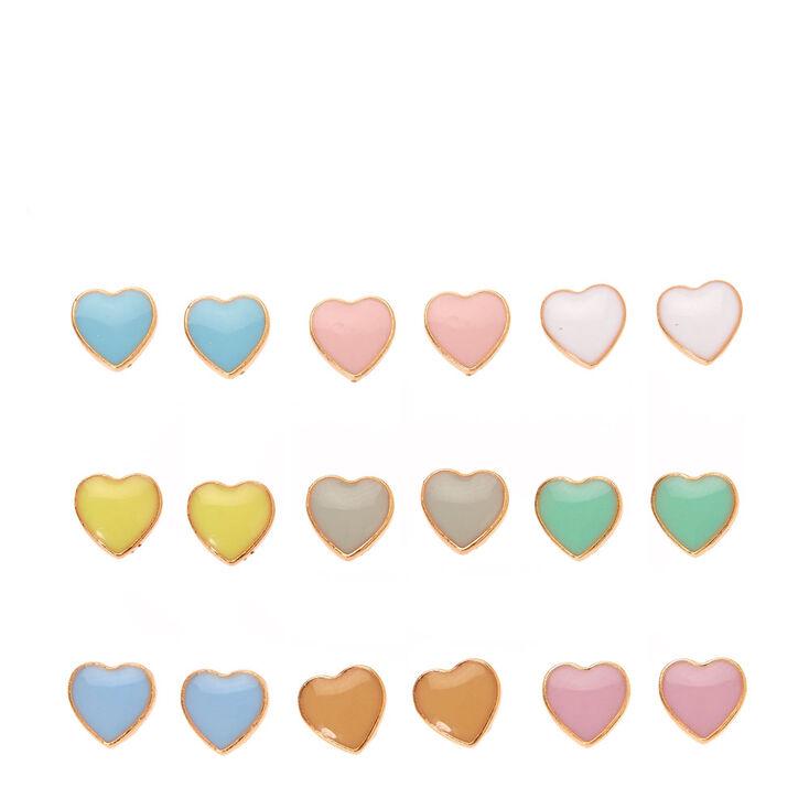 Pastel Heart Multi Set Studs,