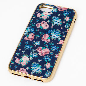 Navy and Pink Floral Phone Case - Fits iPhone 6/7/8/SE,