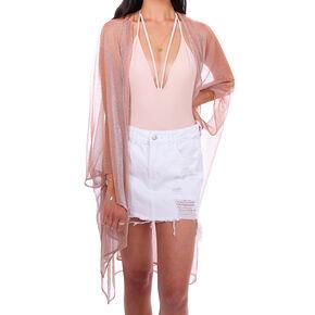 Sheer Shimmer Kimono - Rose Gold,