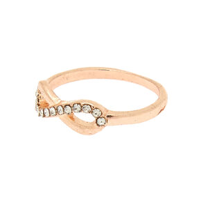 Rose Gold Infinity Ring,