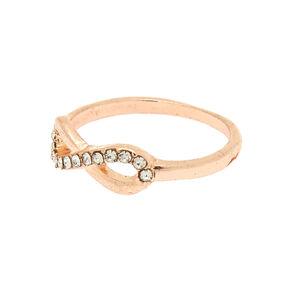 Rose Gold Infinity Ring,
