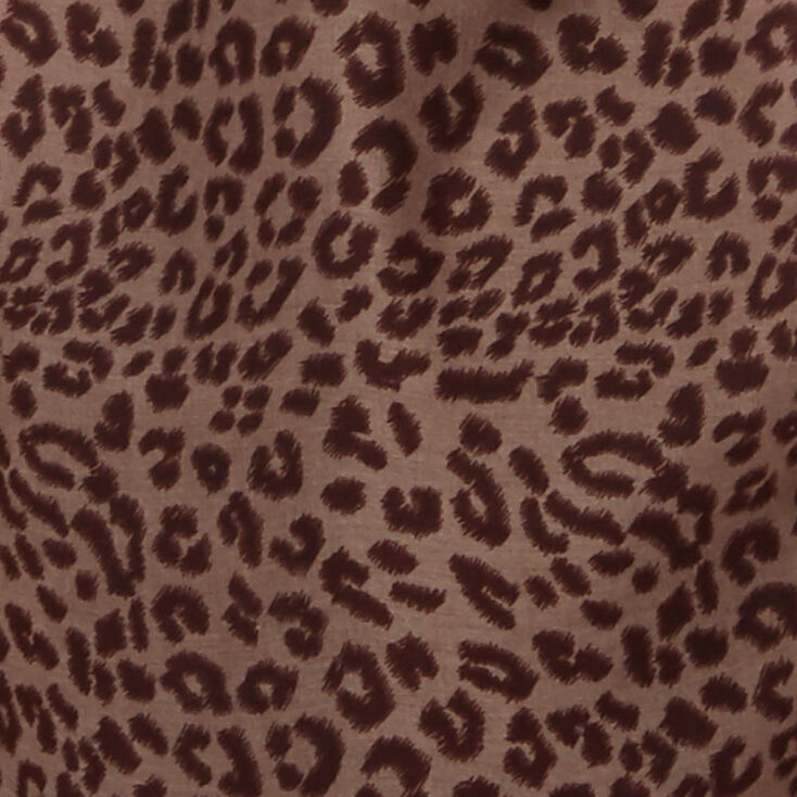 Cold Shoulder Leopard Shirt,