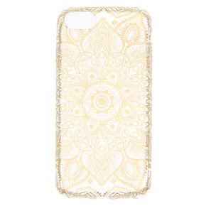 Metallic Gold Mandala Phone Case - Fits iPhone 6/7/8,