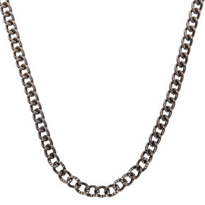 Hematite Chain Necklace,