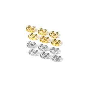 Mixed Metal Clutch Back Earring Replacements - 12 Pack,